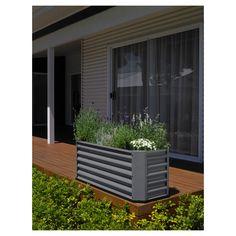 Hills Self Watering Garden Bed Grey 240L   Masters Home Improvement