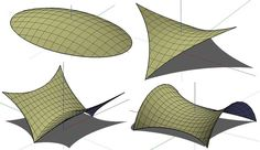 tensile structures drawing - Google Search