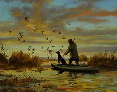 Promising Start, duck hunting painting by Brett J Smith, brettsmith.com