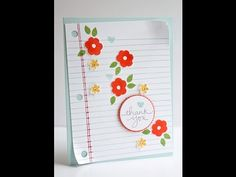 Writing Notes Endless Thanks Stmapin Up Retirement List Highlights with Kitchen Table Stamper - YouTube