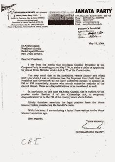 sonia gandhi is not eligible for prime minister