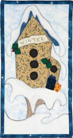 Patch Abilities Inc. Monthly Minis #2 available at www.patchabilities.com MM14 Winter Whimsy Birdhouse