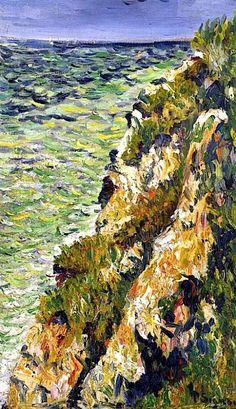 Paul Signac - Port-en-Bessin, a Cliff, 1883