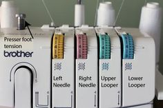 Order to thread loopers and needles