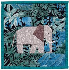 Elephant quilt from A Quilter's Ark Elephant Paper Piecing, Elephant Quilts Pattern, Paper Piecing Patterns, Quilt Block Patterns, Quilt Blocks, Quilt Baby, Quilting Projects, Quilting Designs, Turtle Quilt