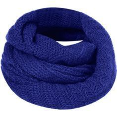 Topshop Royal Blue Knit Snood Infinity Scarf