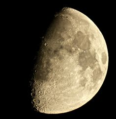 Observing the Moon Waxing Gibbous  Worcestershire, UK