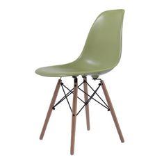 Eames eetkamerstoel. DSW ABS groen. Design Stoelen.