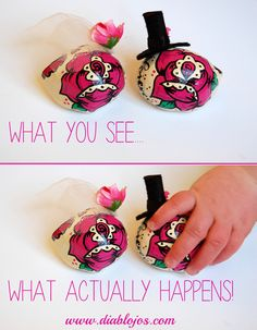 When a working mum with a toddler tries to take product photos! Every. Single. Time!  Custom Colours of Wedding sugar skull cake toppers in Magenta and Black   www.etsy.com/uk/shop/diablojos
