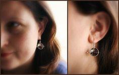 BlueberryCream Garnet earrings