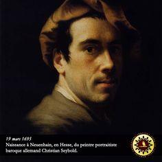 #Éphéméride : 19 mars 1695, naissance à Neuenhain, en Hesse, du peintre portraitiste baroque allemand Christian Seybold. - institut-iliade.com