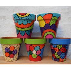 Bottle Painting, Bottle Art, Bottle Crafts, Diy Painting, Clay Flower Pots, Flower Pot Crafts, Painted Plant Pots, Painted Flower Pots, House Plants Decor