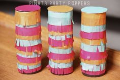 DIY Pinata Party Poppers! So festive.