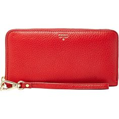 Fossil Sydney Double Accordion Women's found on Polyvore featuring bags, wallets, purses, ladies clutch wallets, ladies wallets, red, red zip around wallet, accordion wallet, credit card holder wallet and fossil wallet