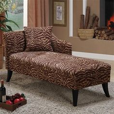 lepord chaise lounge! id love this in red or zebra print tho