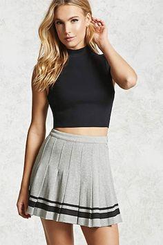 Pleated Varsity Tennis Skirt