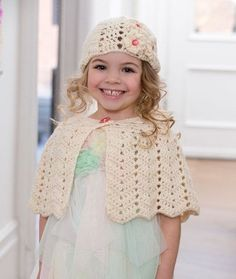 Ripple Hat and Capelet Free Crochet Pattern from Red Heart Yarns