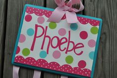 Hairbow Holder - CANDYLAND - XLarge - Handpainted and Personalized Bow Holder