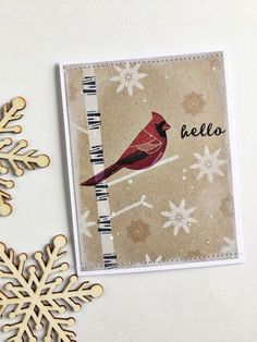 Hello Card by Heather Nichols for Papertrey Ink (November 2015)