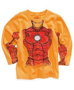 Marvel Kids T-Shirt, Little Boys Flocked Graphic Tee