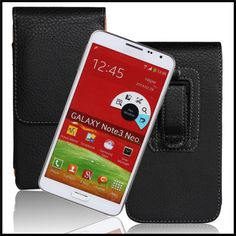 Belt Clip Case Cover For Samsung Galaxy Note 2 3 4 5/Note 3 Neo Leather Pouch Men Outdoor Holster Mobile Phone Accessory Bag