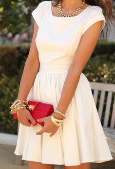 Pretty summer dress  #dress #whitedress #summer