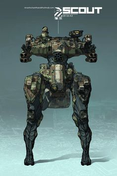 ArtStation - SCOUT ZB132-A2 All Weather Armored Landmate., Nivanh Chanthara