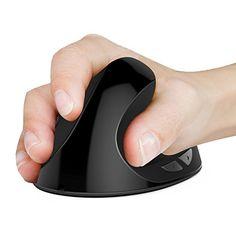 [Upgraded Version] 6D 2.4G Wireless Vertical Ergonomic Optical Mouse 800 / 1200 /1600DPI 6 Buttons  Black http://ift.tt/2kk2trA
