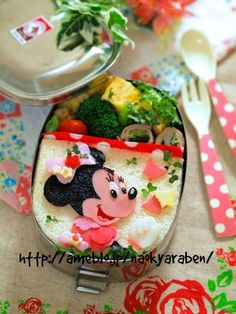 Disney Minnie bento, lovely.