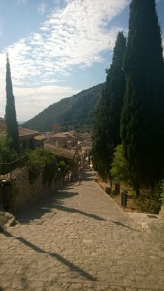 View form top of the Calvary Steps in Pollensa