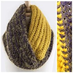 """B48 Soft Yellow Purple Chunky Infinity Scarf Chunky Sweater Yarn Infinity Scarf  ‼️ PRICE FIRM UNLESS BUNDLED WITH OTHER ITEMS FROM MY CLOSET ‼️   UNBELIEVABLY GORGEOUS & SOFT!!!  I love this scarf. This is one of the softest scarves I have ever felt!  A beautiful shade of mustard yellow with aubergine purple.  100% acrylic. Dress up any outfit day or night. Please check my closet for many more scarves and clothing items.  Length 30""""  Width 15"""" Boutique Accessories Scarves & Wraps"""