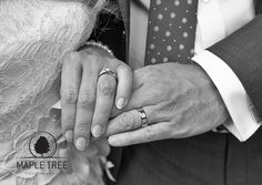 The wedding rings of Rebecca and Jon
