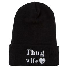 YOUNG  amp  RECKLESS Thug Wife Beanie Knit Beanie Hat cf9f047f2fa5