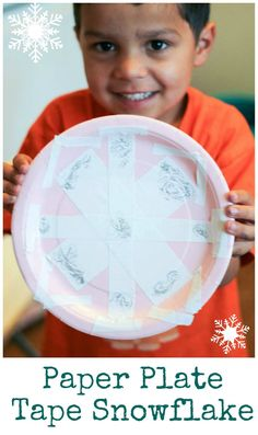 Paper Plate Snowflakes - In The Playroom
