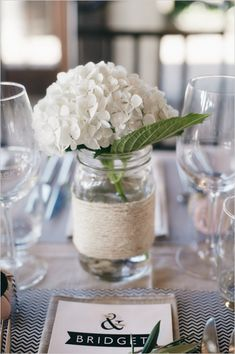 single Hydrangea decor