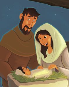 Dear Parents, Thank you for continuing this journey of The Gospel Project® for Kids. Last unit, kids learned about God's plan for John the Baptist, the forerunner of the Savior. Bible Cartoon, Jesus Cartoon, Jesus Stories, Bible Stories, Flannel Board Stories, Bible Illustrations, Jesus Art, Bible Pictures, Birth Of Jesus