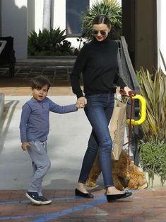 Model Miranda Kerr takes her son Flynn out for lunch at the Ollo Restaurant in Malibu, California on May 4, 2016. Afterwards Miranda took Flynn shopping for toys at Toy Crazy.