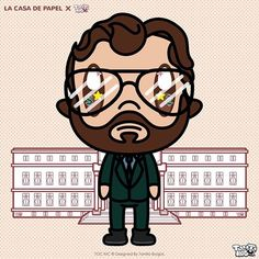 El Profesor the Master Mind of @lacasadepapeltv súper Cute Illustration Designed by @tocinc.co // #Tocinc #lacasadepapel #kawaii #chibi #elprofesor Cute Illustration, Live For Yourself, Netflix, Dreaming Of You, Iphone Wallpaper, Creepy, Banner, Doodles, Super Cute