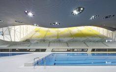 Image 21 of 61 from gallery of London Aquatics Centre for 2012 Summer Olympics / Zaha Hadid Architects. Photograph by Helene Binet Arquitectos Zaha Hadid, Zaha Hadid Architects, Space Architecture, Futuristic Architecture, Contemporary Architecture, Unique Buildings, Beautiful Buildings, London Aquatics Centre, Architects London