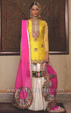 Fahad Hussayn Latest Pakistani Designer Bridal Dresses 2019 Designs Collection consists of heavenly embroidered lehengas, gowns, maxis, frocks, Bridal Mehndi Dresses, Mehendi Outfits, Nikkah Dress, Bridal Dress Design, Pakistani Wedding Outfits, Pakistani Dresses, Pakistani Gharara, Pakistani Mehndi Dress, Shadi Dresses