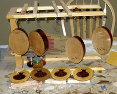 Varnishing Stand - The Dale Maley Family Web Site
