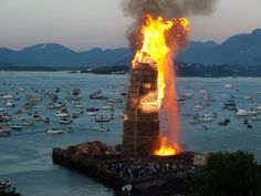 The Worlds Biggest Bonfire In Norway