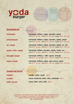 Yoda Burger Logo & Identity by Emrah Eski, via Behance