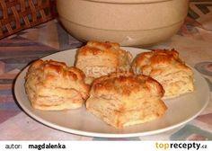 Škvarkové pagáče recept - TopRecepty.cz Russian Recipes, Ale, Biscuits, French Toast, Bacon, Muffin, Treats, Breakfast, Food