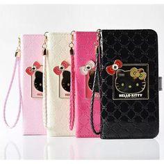 Hello Kittyハローキティ iPhone7/6s plus/6sケース 財布付き 手帳型 Galaxy S6 EDGEカバー カード 卓上スタンド Samsung Note5ケース 可愛い 横開き 送料無料