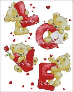Gallery.ru / Мишки Love. - Платные схемы - Vorozheya