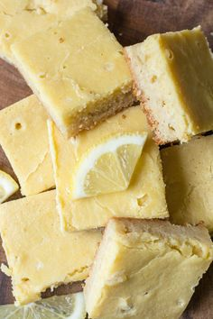 The best keto lemon bars! These sweet and tangy bars are low carb, gluten free a. - The best keto lemon bars! These sweet and tangy bars are low carb, gluten free a… - Keto Cupcakes, Keto Cookies, Vegan Protein Bars, Keto Bars, Low Carb Deserts, Low Carb Sweets, Low Carb Keto, Low Carb Recipes, Free Recipes