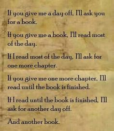 If you give me a book...