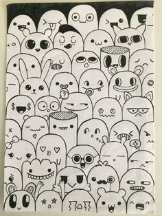 Cute Doodle Art, Doodle Art Designs, Doodle Art Drawing, Cute Doodles, Easy Doodles Drawings, Art Drawings Sketches Simple, Girly Drawings, Graffiti Doodles, Small Canvas Art