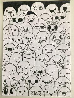 Cute Doodle Art, Doodle Art Designs, Doodle Art Drawing, Mandala Drawing, Easy Doodles Drawings, Art Drawings Sketches Simple, Girly Drawings, Graffiti Doodles, Small Canvas Art